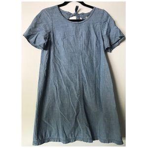 Madewell chambray flutter sleeve dress